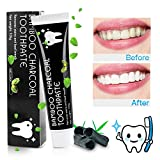 Activated Charcoal Teeth Whitening Toothpaste, MayBeau 105g Natural Organic Bamboo Charcoal Toothpaste,Effective Against Bad Breath and Coffee Stains Improve Oral Health and Fresh Breath