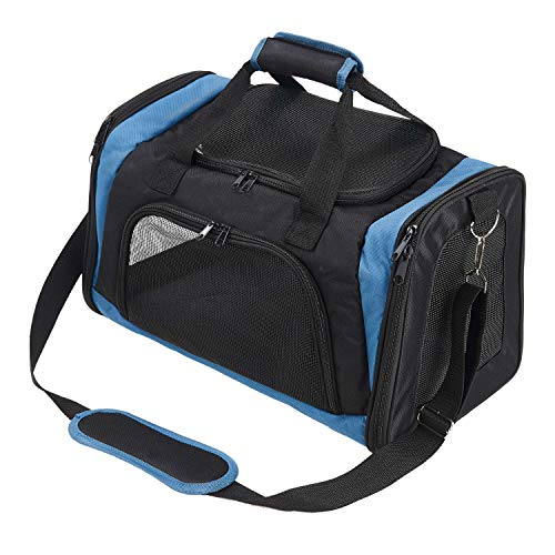 Pettom Pet Shoulder Mesh Carrier Soft Sided Travel Bag Airline Approved Perfect for Small Dogs Cats Kittens