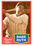 #6: 1989 Collectors Marketing Corp Babe Ruth Limited Edition Baseball Promo Card