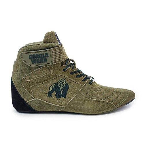 Gorilla Wear Perry High Tops Pro - Army Green/Armee Grün - Bodybuilding und Fitness Schuhe für Damen und Herren