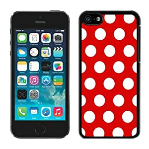 Polka Dot Red and White Iphone 5c Case Black Cover