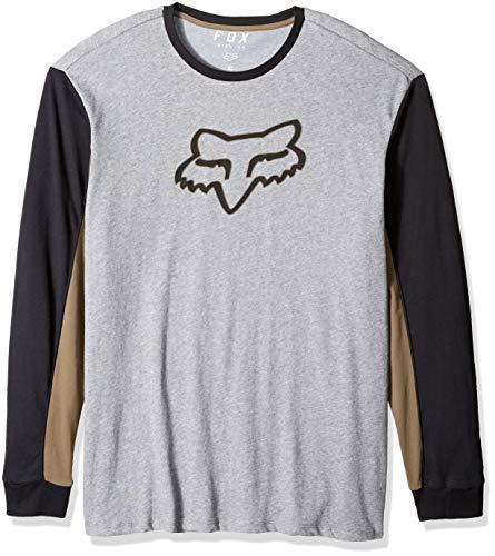 Fox Men's Airline TruDri Modern Fit Long Sleeve Tech T-Shirt, Heather Graphite, XL