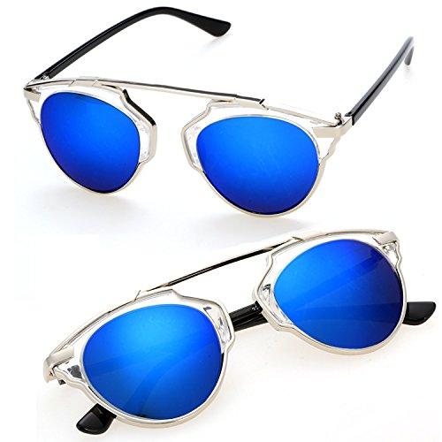 Asatr Fashion 8 Color Classic Vintage Cat Eye Metal Frame Unisex Sunglasses Shades