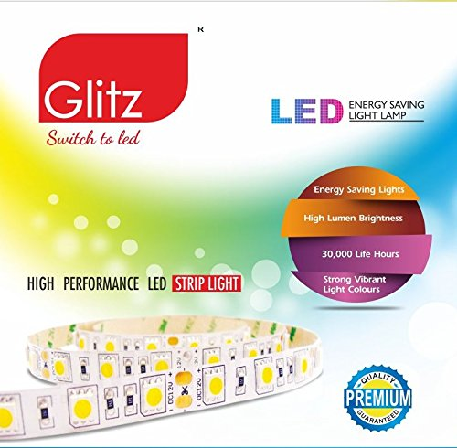 Glitz RGB led Strip Light 5050 150 LEDs, 5mtrs, Remote, Adaptor