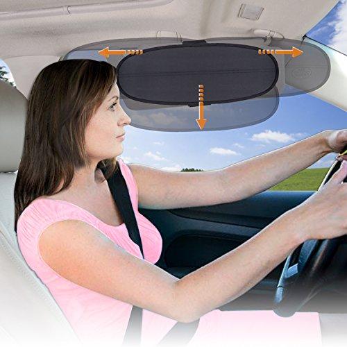 WANPOOL Anti-Glare Car Visor Sunshade Extender for Drivers o