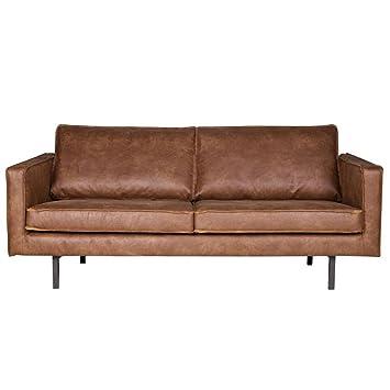 Lounge sofa leder  2,5 Sitzer Sofa RODEO Echtleder Leder Lounge Couch Garnitur cognac ...