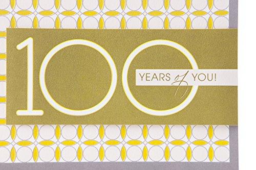 Hallmark 100th Birthday Greeting Card (Circle Pattern) Photo #7