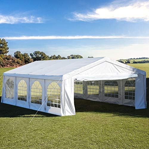 13'X26' Party Tent Heavy Duty Wedding Tent Outdoor Gazebo Event Shelter Canopy with 3 Carry - Shelter Event