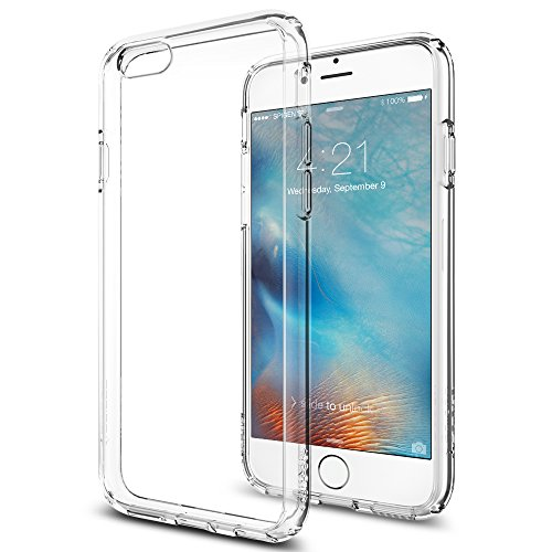 Spigen Ultra Hybrid iPhone 6S Case with Air Cushion Technology and Hybrid Drop Protection for iPhone 6S / iPhone 6 - Crystal Clear by Spigen (Image #1)