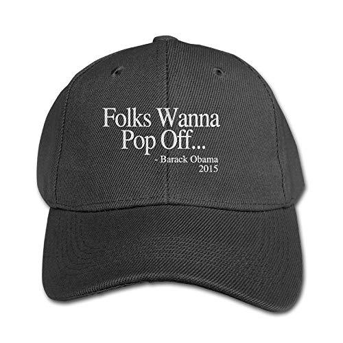 Folks Wanna Pop Off Kid Sunbonnet Hats Black