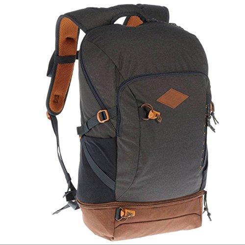 GJ バックパック - 足の旅行のアウトドアバックパック多機能の大きなバックパックのラップトップバッグ (色 : 暗灰色) B07DXF14KR 暗灰色