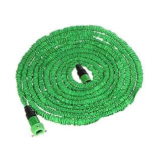 Andoer 75FT Ultraligero Flexible 3X ampliable Jardín Tubos Mangueras de Agua + grifo Conector + Conector Rápido (Verde)