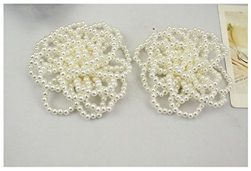 Douqu 1pair 7.5cm New Flower Design Fashion Pearl Shoe Decor Clip Wedding Shoe Clip