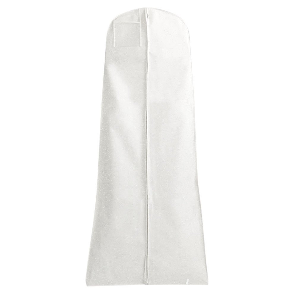 HANGERWORLD Pack of 3 White Breathable Wedding Gown Dress Garment Cover Bags - 72