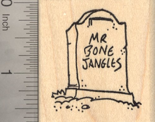 Halloween Tombstone Rubber Stamp for Mr. Bone Jangles (Funny Epitaphs For Halloween)