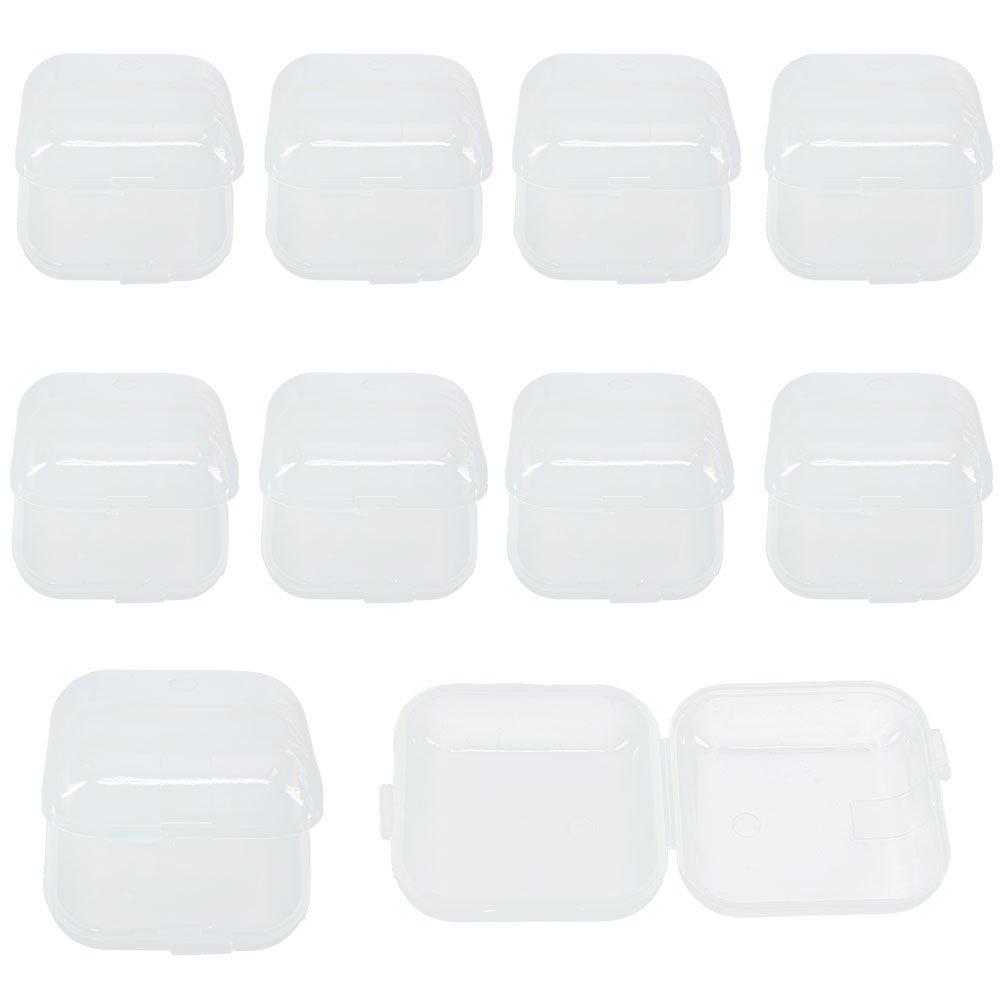 Loriver Tapones para los Oí dos de la Pequeñ a Caja de plá stico Transparente Mini 10pcs