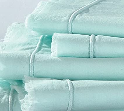 Amazon.com: Byourbed Hint of Mint Eyelash Textured Twin XL Sheets