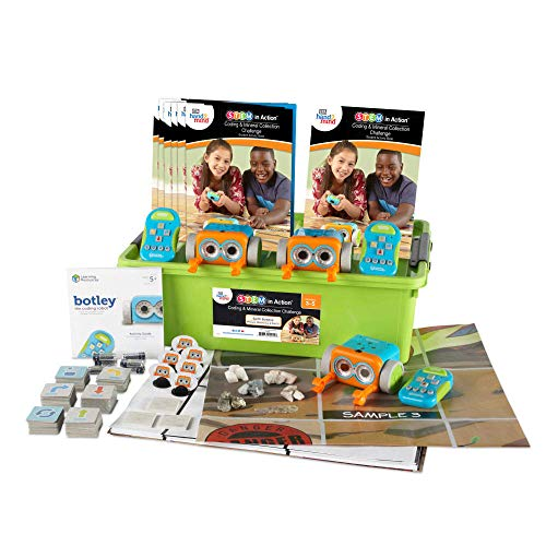 ETA hand2mind STEM in Action Coding & Mineral Collection Challenge, Includes 3 Botley Robots, Coding Cards, Tokens, Teacher Guide