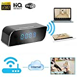 Hidden Camera,INRIGOROUS WIFI Spy Camera 1080P Home Security Camera Baby Monitor Spy Camera Clock Real-time Monitoring DVR Remote Control Motion Detection Loop Recording Built-in high Capacity Re