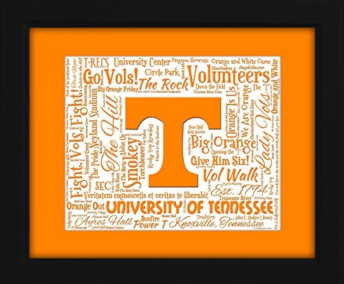 University of Tennessee 16x20 Art Piece - Beautifully matted and framed behind glass