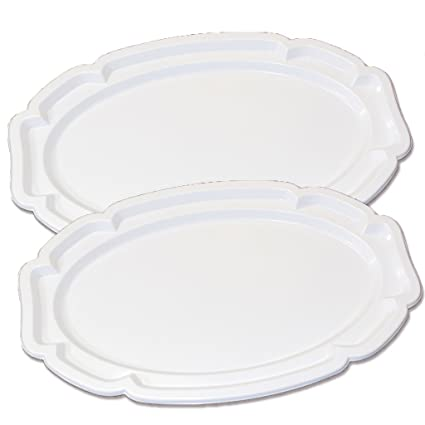 2 bandejas para servir platos desechables PICNIC barbacoa Macedonia de frutas reutilizable platos de carne