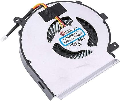 perfk Ventilador de refrigeración portátil MSI Gaming GE62 GE72 ...
