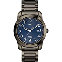 Timex Men's TW2R63700 Highland Street Gray/Blue Stainless Steel Expansion Band Watch