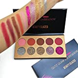 natural makeup palette - Beauty Glazed 10 Colors Makeup Glitter Shimmer Eyeshadow Palette Matte Natural Nude Pigment Eye Shadow Diamond Naked Pallete cosmetics (Glitter and Matte)