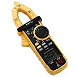 FIXKIT Digital Clamp Meter, Multimeter with AC Current, Resistance, Capacitance, Voltage, Frequency, Diode, Continuity and Temperature Test
