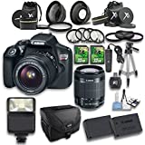 Canon EOS Rebel T6 DSLR Camera with 18-55mm IS II Lens and Accessory Bundle (15 Items)