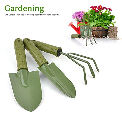 Ladies Small Garden Fork Of Freehawk Gardening Plant Pot 3 Pieces Gardening Tools