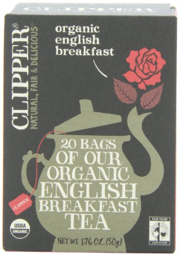 Clipper Fair Trade Animate English Breakfast, 20-Count (Pack of 6)