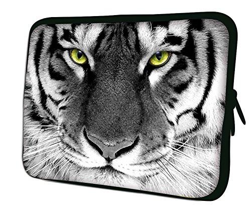 """7.9""""Design ipad mini/iPad Mini 2/iPad Mini 3funda suave carcasa Bolsa Pouch Skin. Ajuste perfecto. Diferentes patrones Disponible. (parte 1de 3) blanco (White Tiger)"""