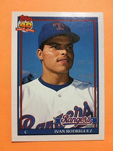 1991 Topps Traded Ivan Pudge Rodriguez 101T Texas Rangers Rookie Card ()