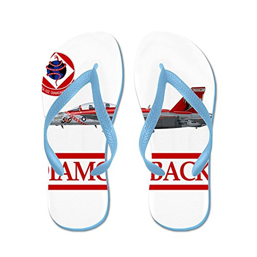 CafePress Vfa102grey.jpg - Flip Flops, Funny Thong Sandals, Beach Sandals Caribbean Blue