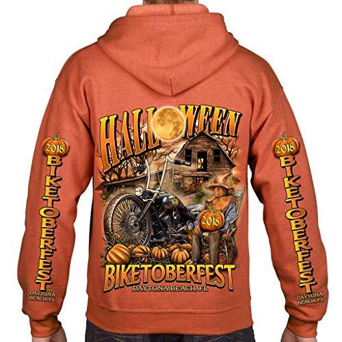 Biker Life USA 2018 Biketoberfest Daytona Beach Halloween Zip-Up Hoodie -