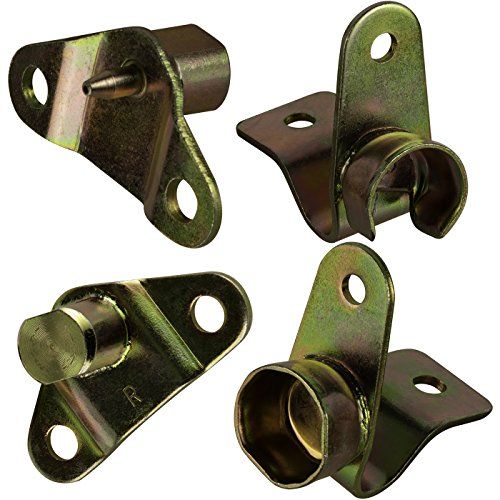 OxGord Tailgate Hinge Kit Best for 1999-2007 Chevrolet Silverado 1500, 2500, 3500, 1999-2007 GMC Sierra 1500, 2500, 3500 (Set of 4) Left & Right Side- Bed & Gate - Replacement Part # 38642