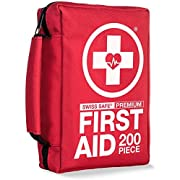 Compact First Aid Kit (200-Piece) : Lightweight for Camping, Outdoors, Hiking with Emergency Survival Gear
