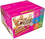 Friskies Gravy Sensations Pouch Favorites, 6-Flavor Variety Pack, 3-Ounce Pouches (Pack of 24), My Pet Supplies