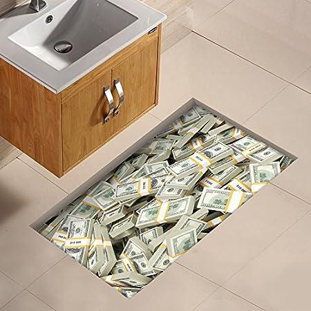 Gfei Bathroom Mat Sticker Toilet Waterproof Floor Tile 3d