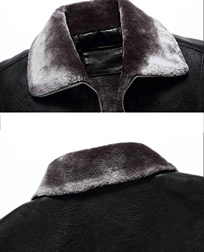 Fleece hombre cuero camel Parka Fur Winterr Coat Midi Chaquetas m de PJK Jacket Coat para AzIEpgnqfw