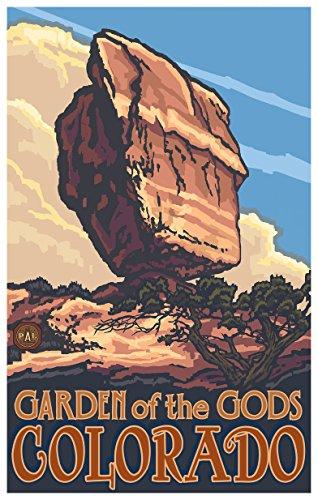 Balanced Rock Garden of The Gods Colorado Travel Art Print Poster by Paul A. Lanquist (12