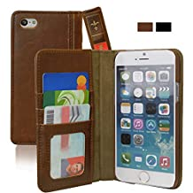 iPhone 6 Case, KHOMO [Book Collection] - Vintage Book Style Wallet Leather Cover for Apple iPhone 6 Air 4.7'' - Brown