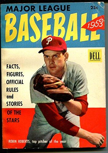 Major League Baseball-1953-Dell-last issue-Mickey Mantle-Robin Roberts-VG/FN