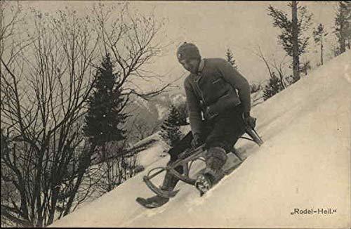 Man sledding Other Sports Original Vintage Postcard from CardCow Vintage Postcards
