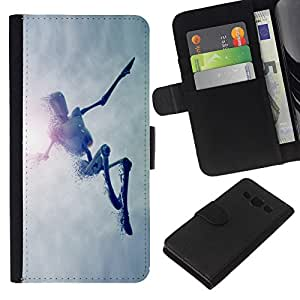 Planetar® Colorful Pattern Flip Wallet Leather Holster Protective Skin Case Cover For Samsung Galaxy A3 / SM-A300 ( Jumping Robot )