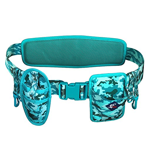 WATERFLY Fishing Wading Belt, Adjustable Wader Belt Fishing Waist Belt with D-Rings Hooks for Fishing Waders for Men
