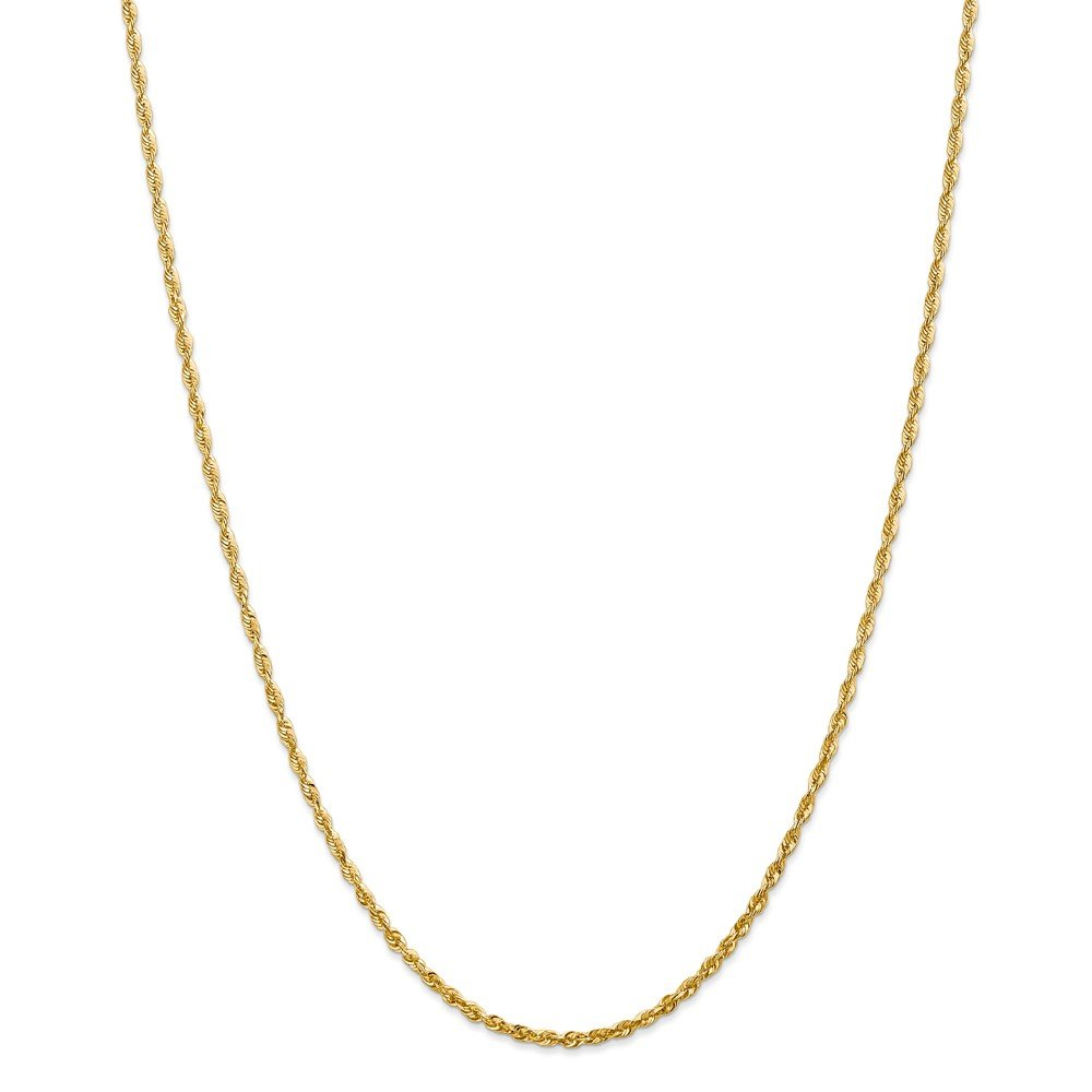 Top 10 Jewelry Gift 14k 2.15mm D/C Extra-Light Rope Chain