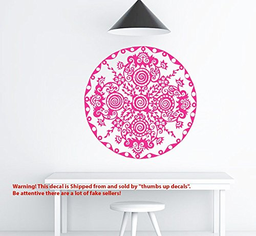 Mandala Vinyl Sticker IMAGINATION MANDALA Decals Lotus Pattern Bedroom Flower Wall Decals Boho Indian Decor Yoga Buddha Stickers T228