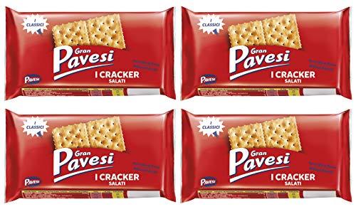 Gran Pavesi Salted Crackers 8.8 Oz (Pack of 4)